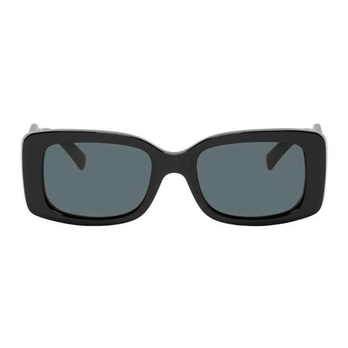 Photo: Versace Black Square 90s Vintage Logo Sunglasses