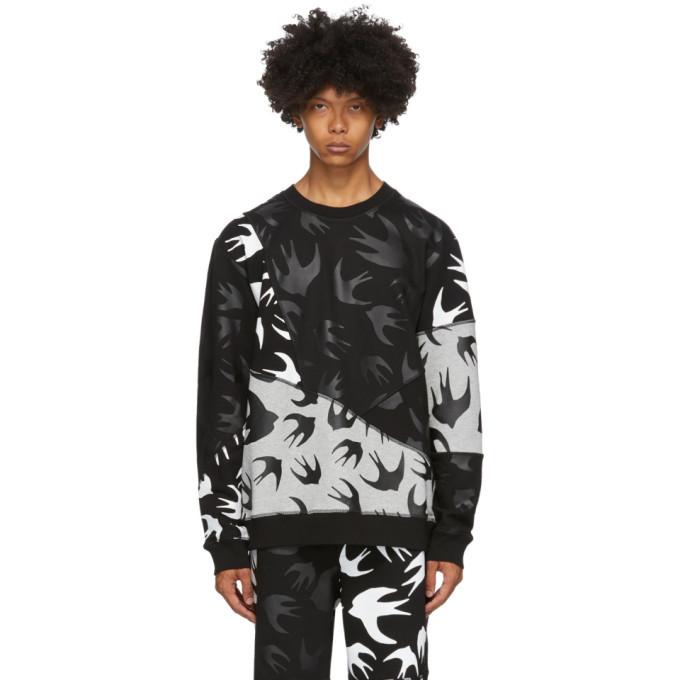 Photo: McQ Alexander McQueen Black and Grey Swallows Sweatshirt