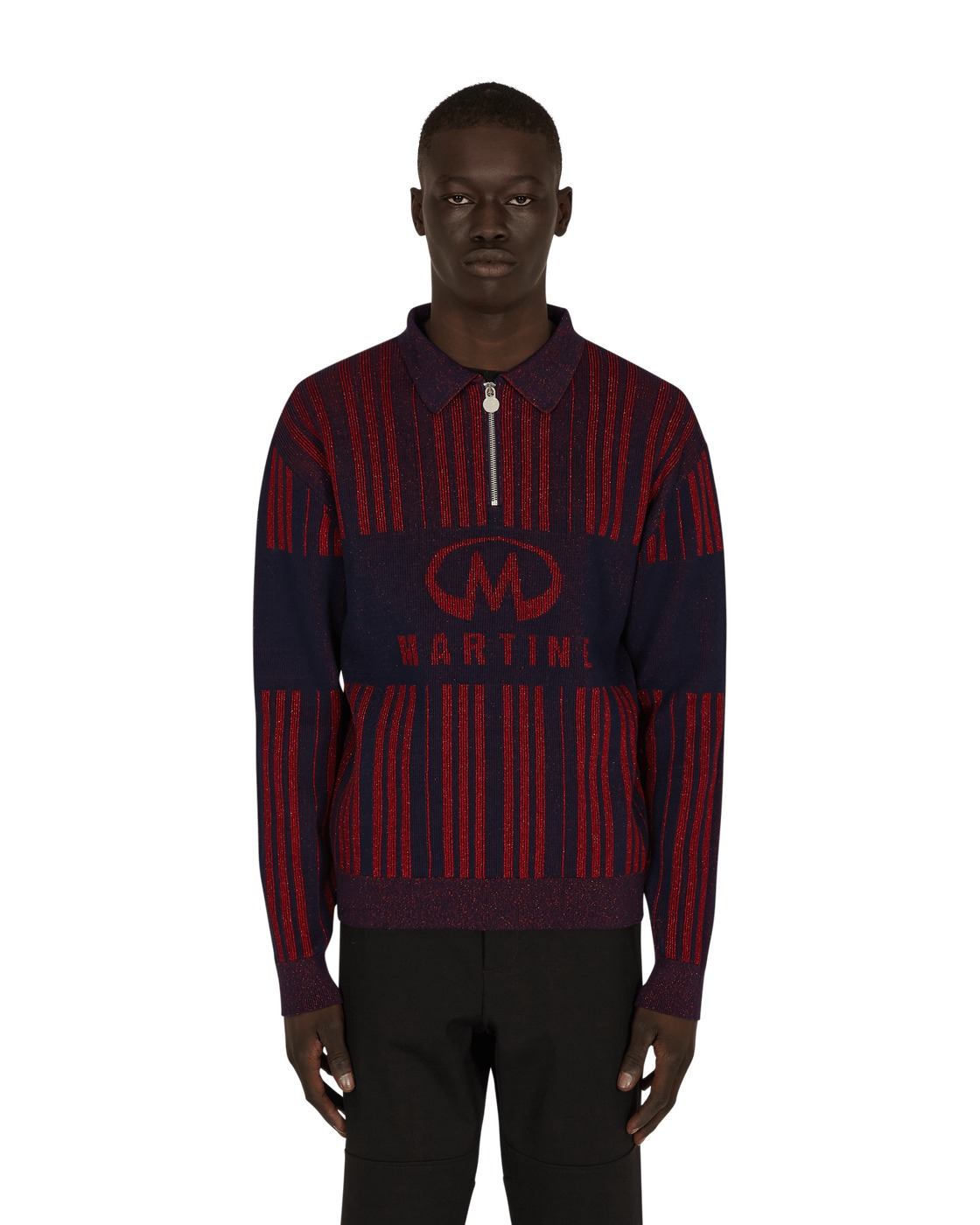 Martine Rose Prysm Knit Sweater Blue/Haute Red
