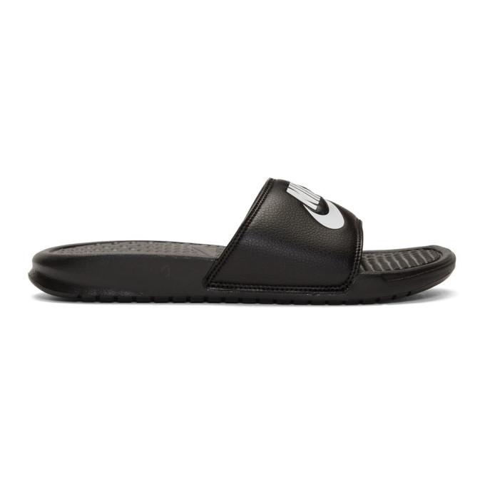 Photo: Nike Black Benassi Slides