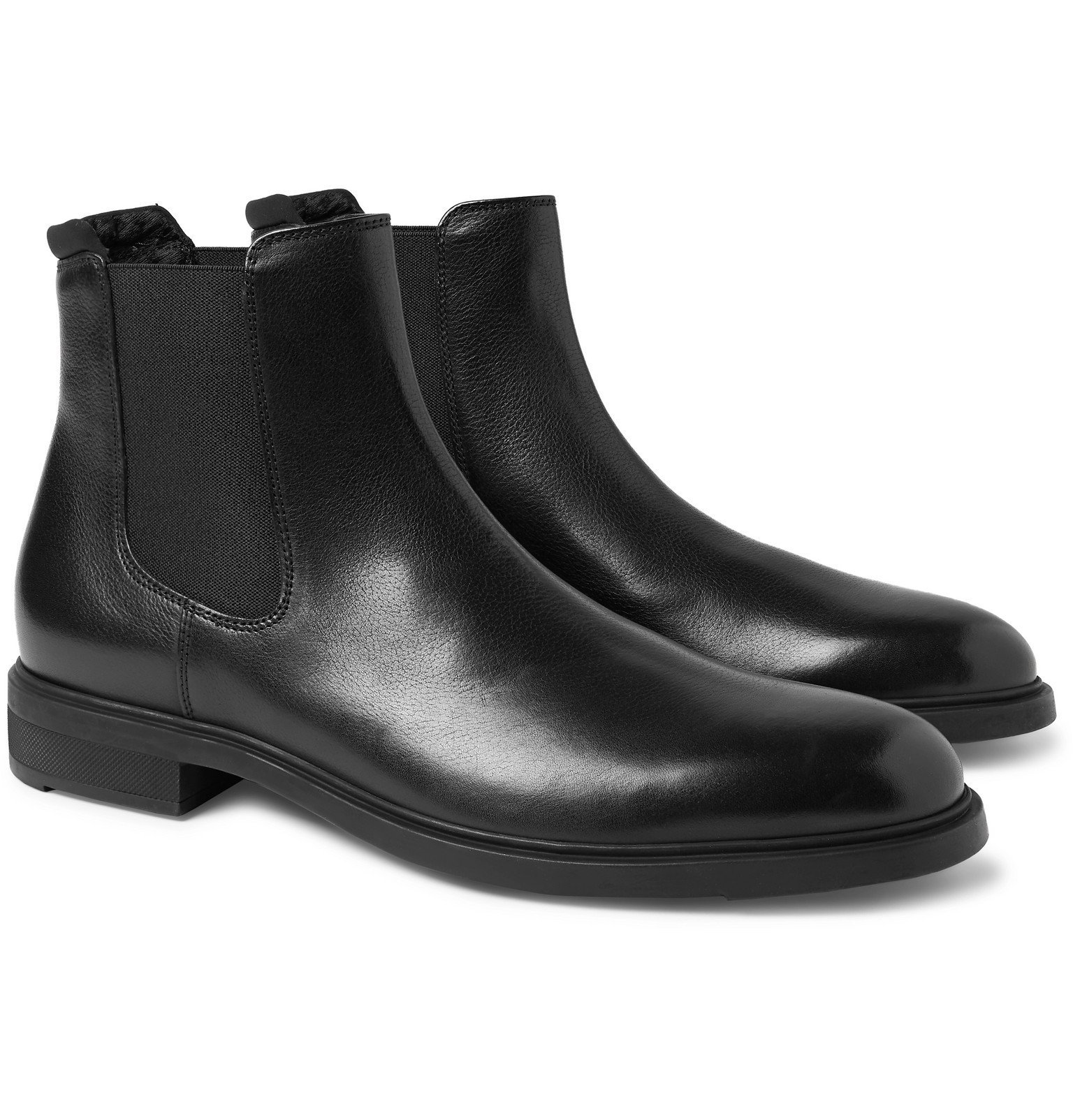 Photo: Hugo Boss - First Class Leather Chelsea Boot - Black