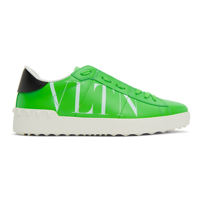 Photo: Valentino Green Valentino Garavani VLTN Open Sneakers