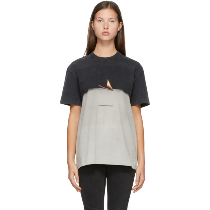 Photo: Alexander Wang Grey Match Graphic T-Shirt