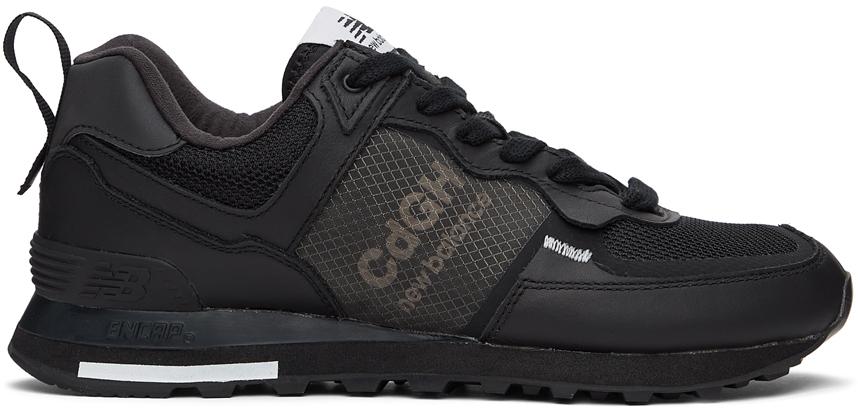 Comme des Garçons Homme Black New Balance Edition 574 Sneakers ...