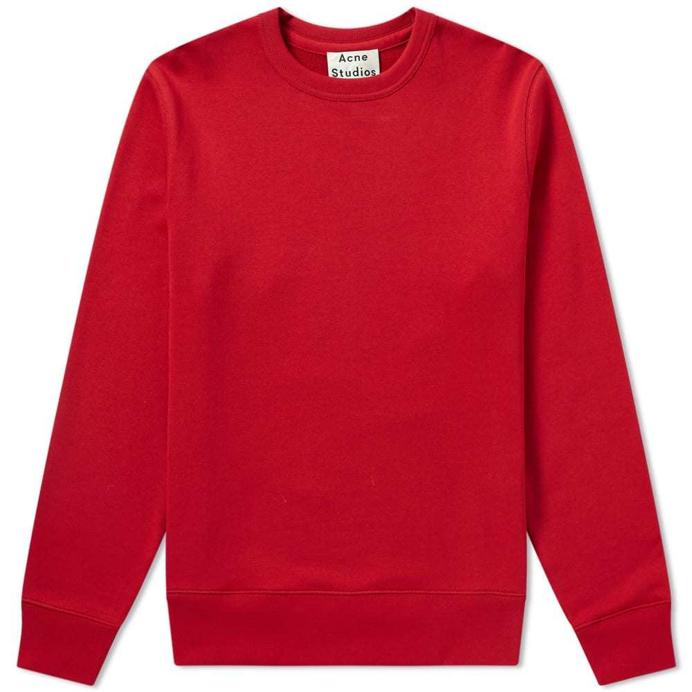 Photo: Acne Studios AS Embroidered Crew Sweat Red