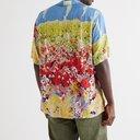 KAPITAL - Aloha Camp-Collar Printed Crepe Shirt - Blue