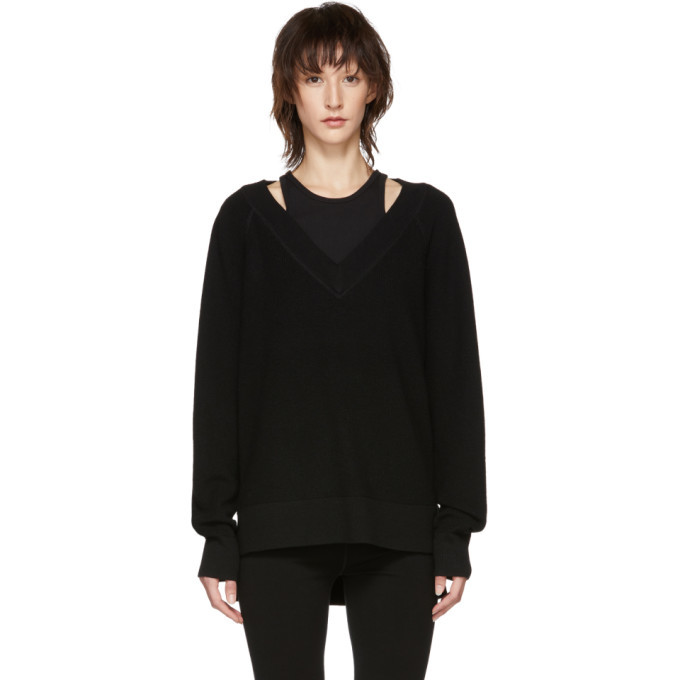 alexanderwang.t Black Inner Tank Raglan Sweater