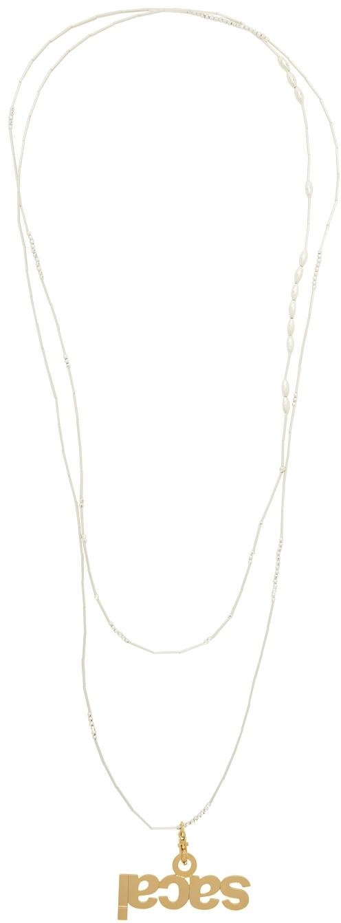 Photo: Sacai Gold & Silver Mobile Connecter Strap Necklace
