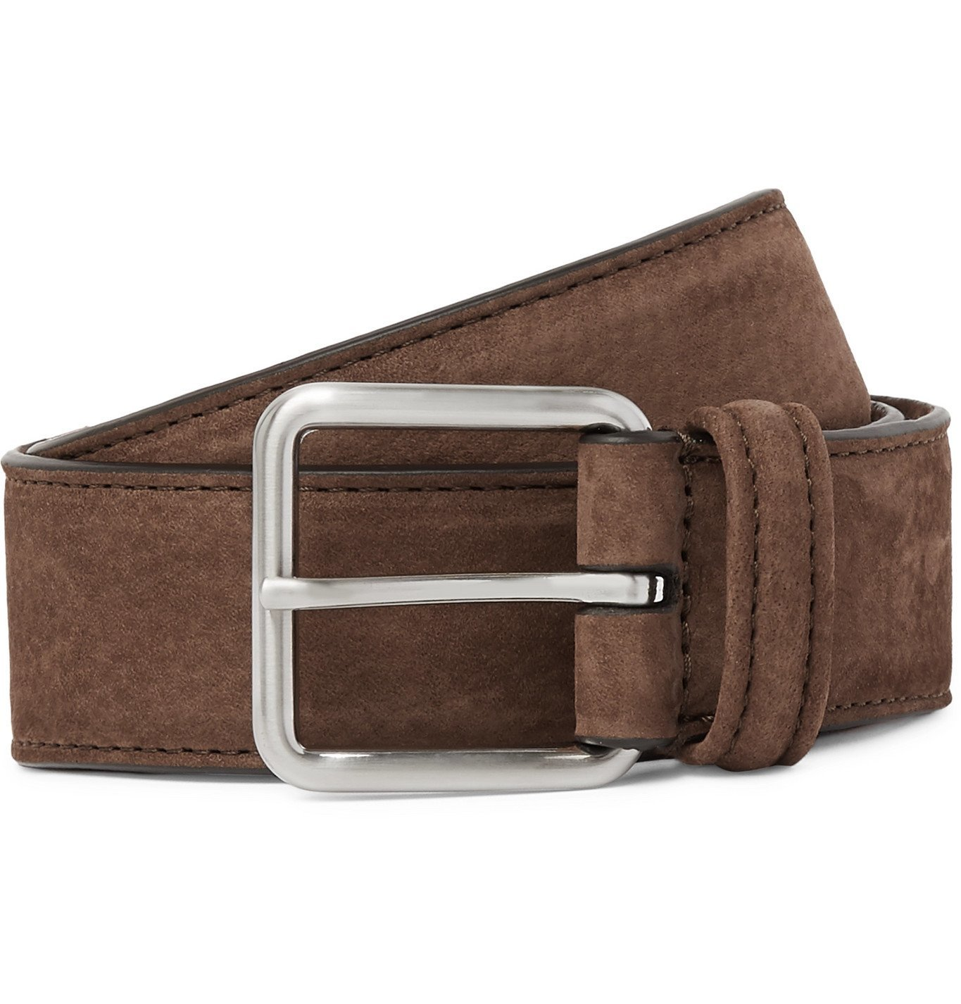 Photo: Anderson's - 3.5cm Suede Belt - Brown