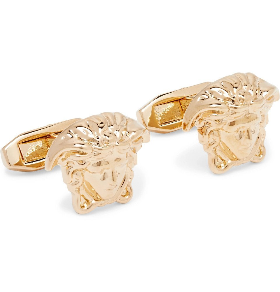 Photo: Versace - Medusa Gold-Tone Cufflinks - Gold