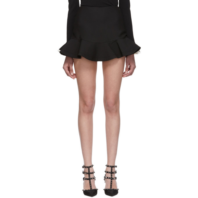 Photo: Valentino Black Ruffle Hem Skort