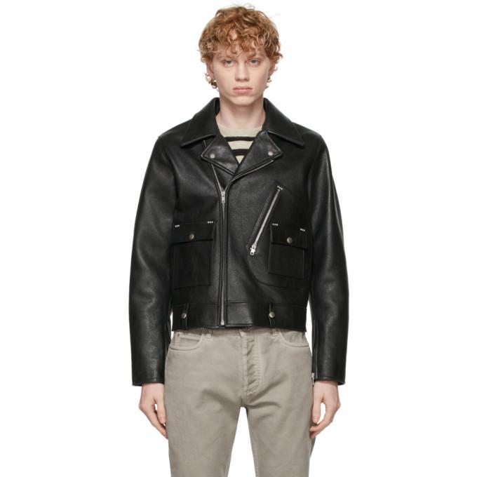 Photo: Maison Margiela Black Leather Biker Jacket