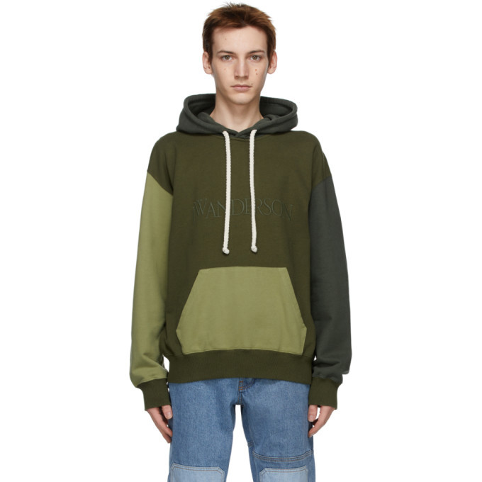 Photo: JW Anderson Green and Khaki Colorblock Hoodie