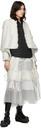 Sacai Tweed & Chiffon Lamé Wrap Skirt