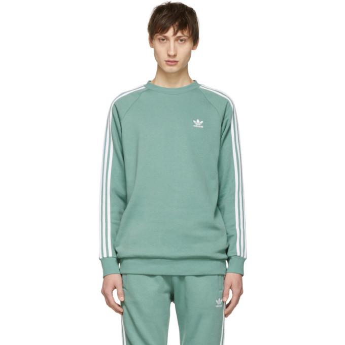 Photo: adidas Originals Green 3-Stripes Sweatshirt