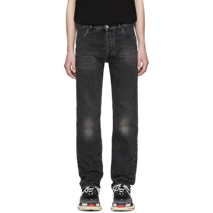 Photo: Balenciaga Black Destroyed Hem 5 Jeans