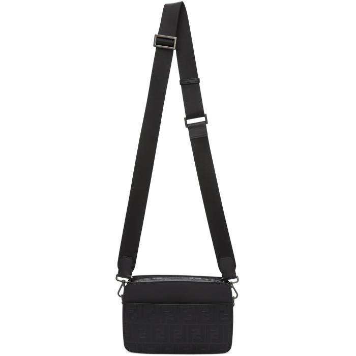 Photo: Fendi Black Logo-Embossed Camera Bag