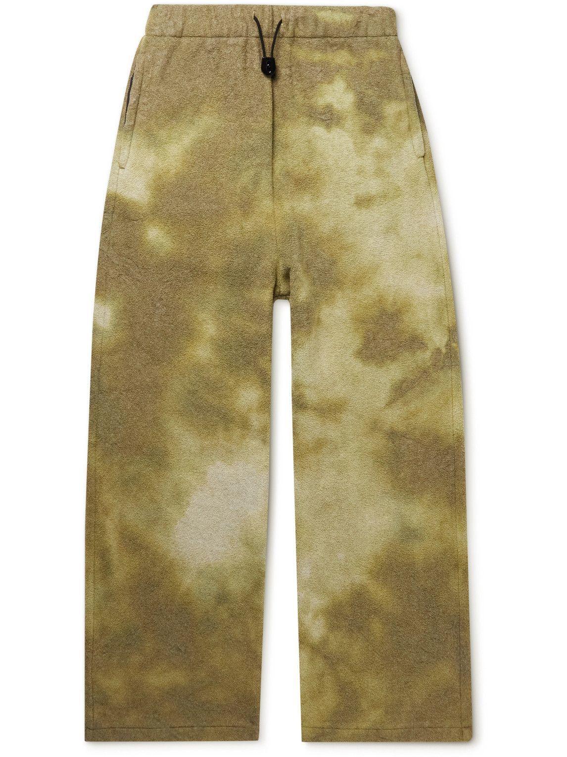 Photo: KAPITAL - Straight-Leg Tie-Dyed Fleece Sweatpants - Yellow