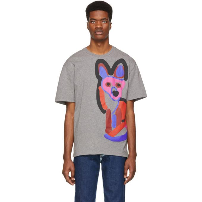 Photo: Maison Kitsune Grey Acide Fox T-Shirt