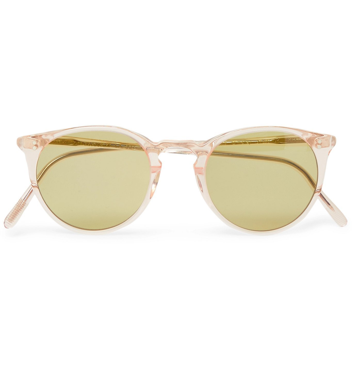 Photo: Oliver Peoples - O'Malley Round-Frame Acetate Sunglasses - Green