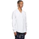 GmbH White Extended Collar Shirt