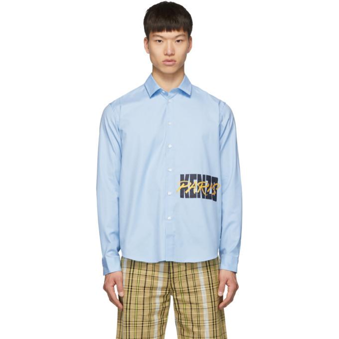 Photo: Kenzo Blue Logo Casual Shirt