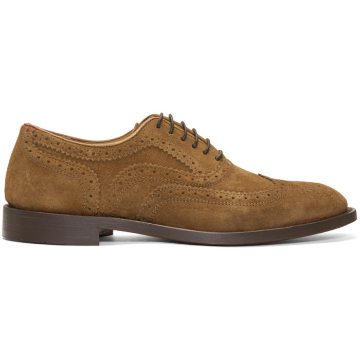 Photo: H by Hudson Tan Suede Heyford Brogues