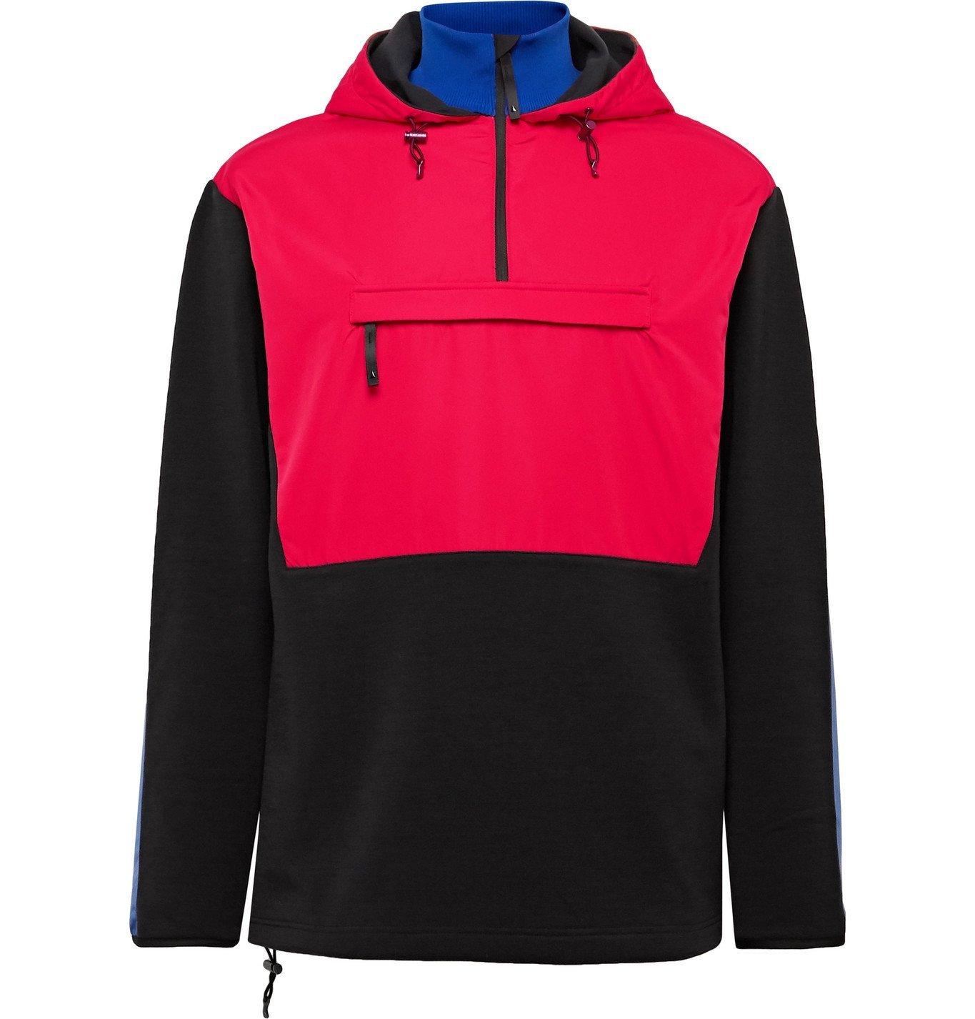 Photo: Aztech Mountain - Shell-Panelled Fleece-Back Jersey Hooded Jacket - Black