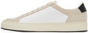 Common Projects White & Black Retro '70s Low Sneakers