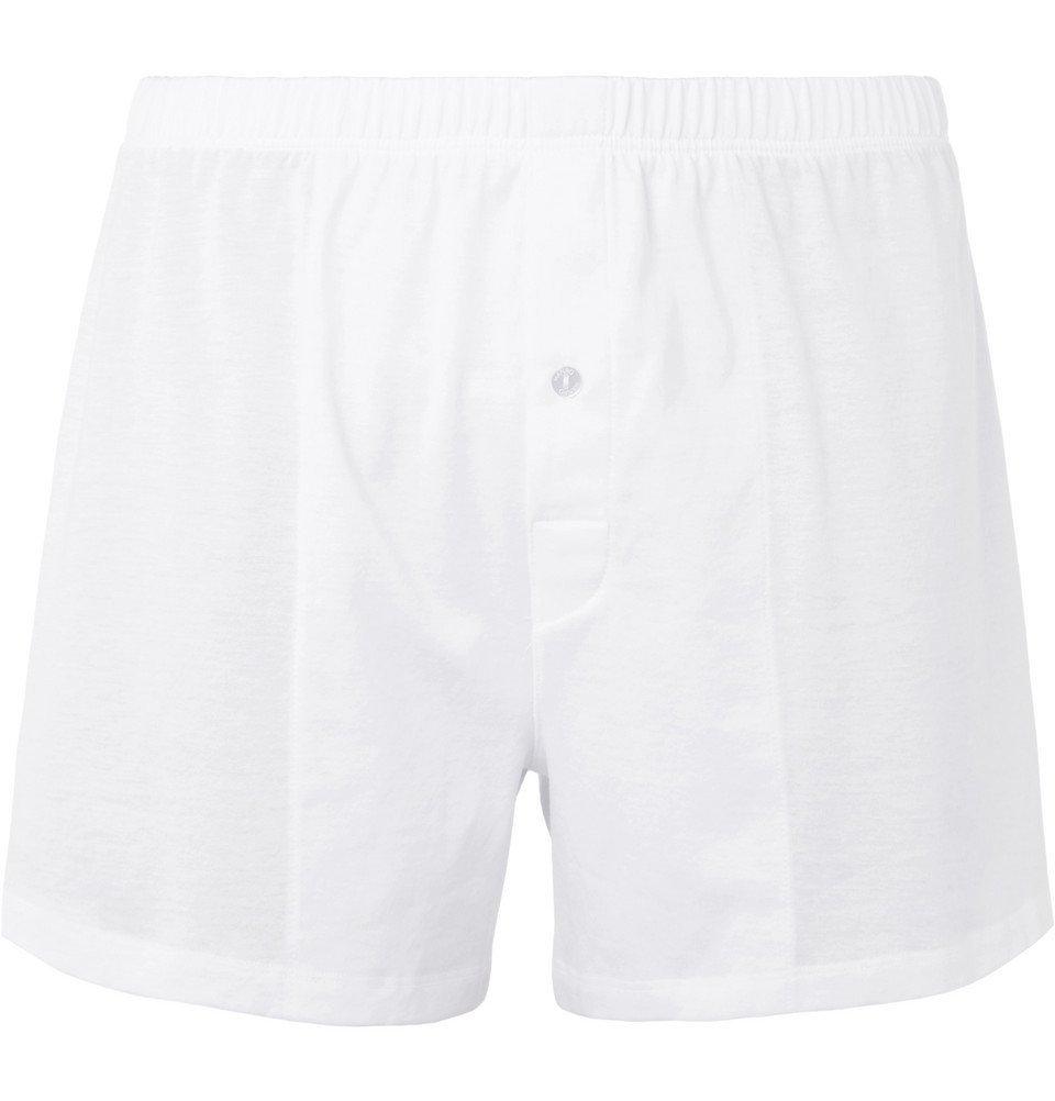 Hanro - Sporty Mercerised Cotton Boxer Shorts - Men - White