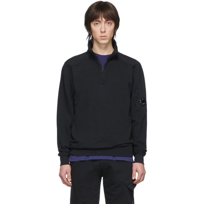 Photo: C.P. Company Black Half-Zip Sweatshirt