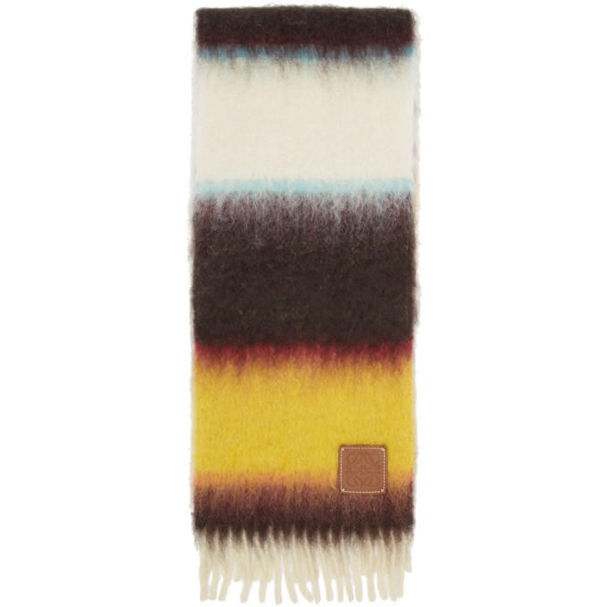 Photo: Loewe Multicolor William De Morgan Mohair Stripe Scarf