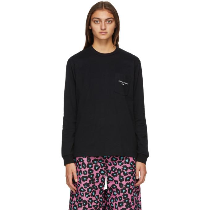 Comme des Garcons Homme Plus Black Logo Long Sleeve T-Shirt