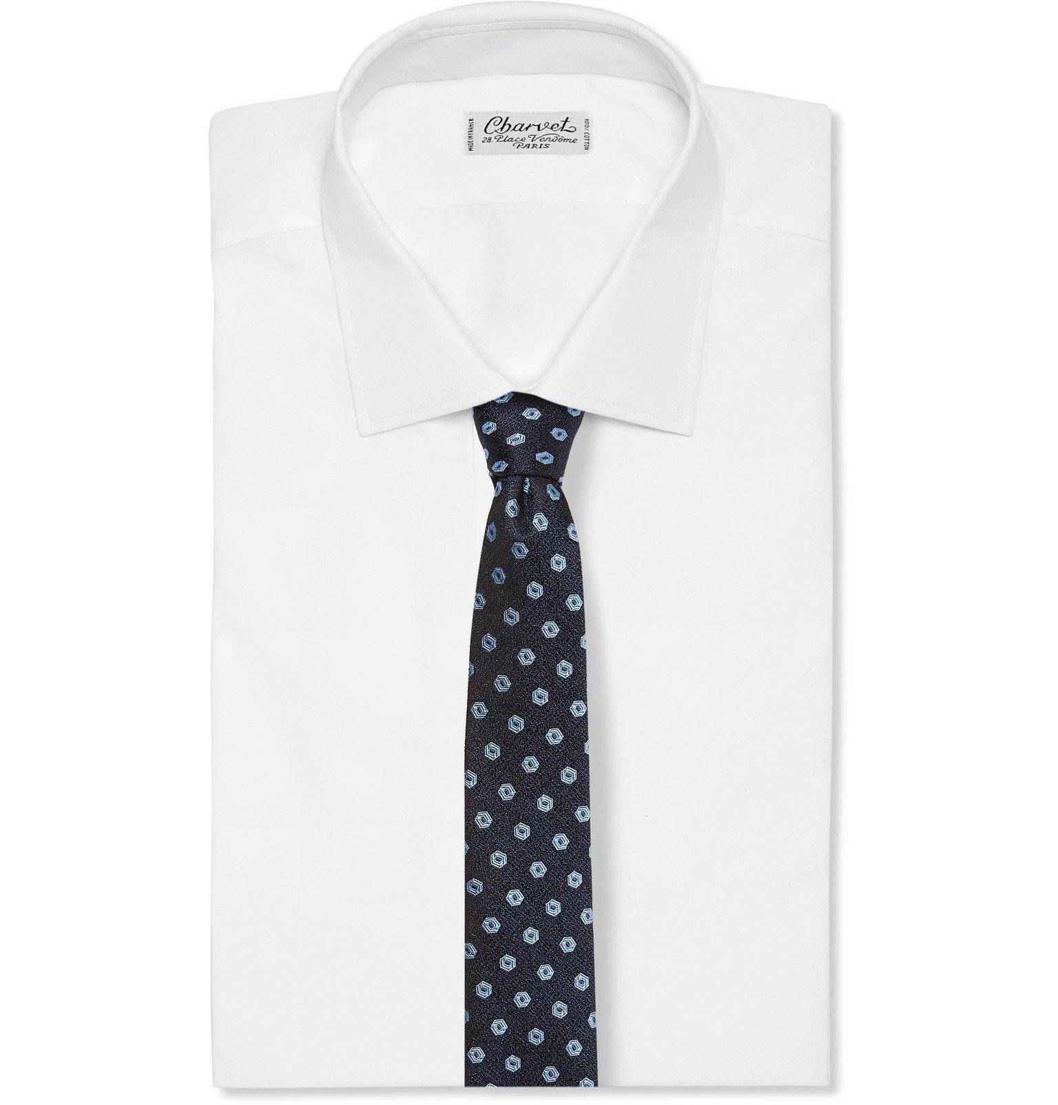 Dolce & Gabbana - 7cm Embroidered Silk-Jacquard Tie - Blue