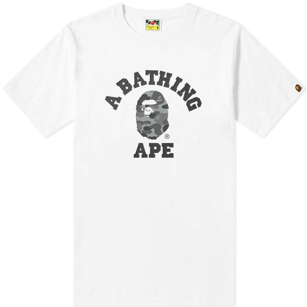 Photo: A Bathing Ape ABC College Tee White & Black