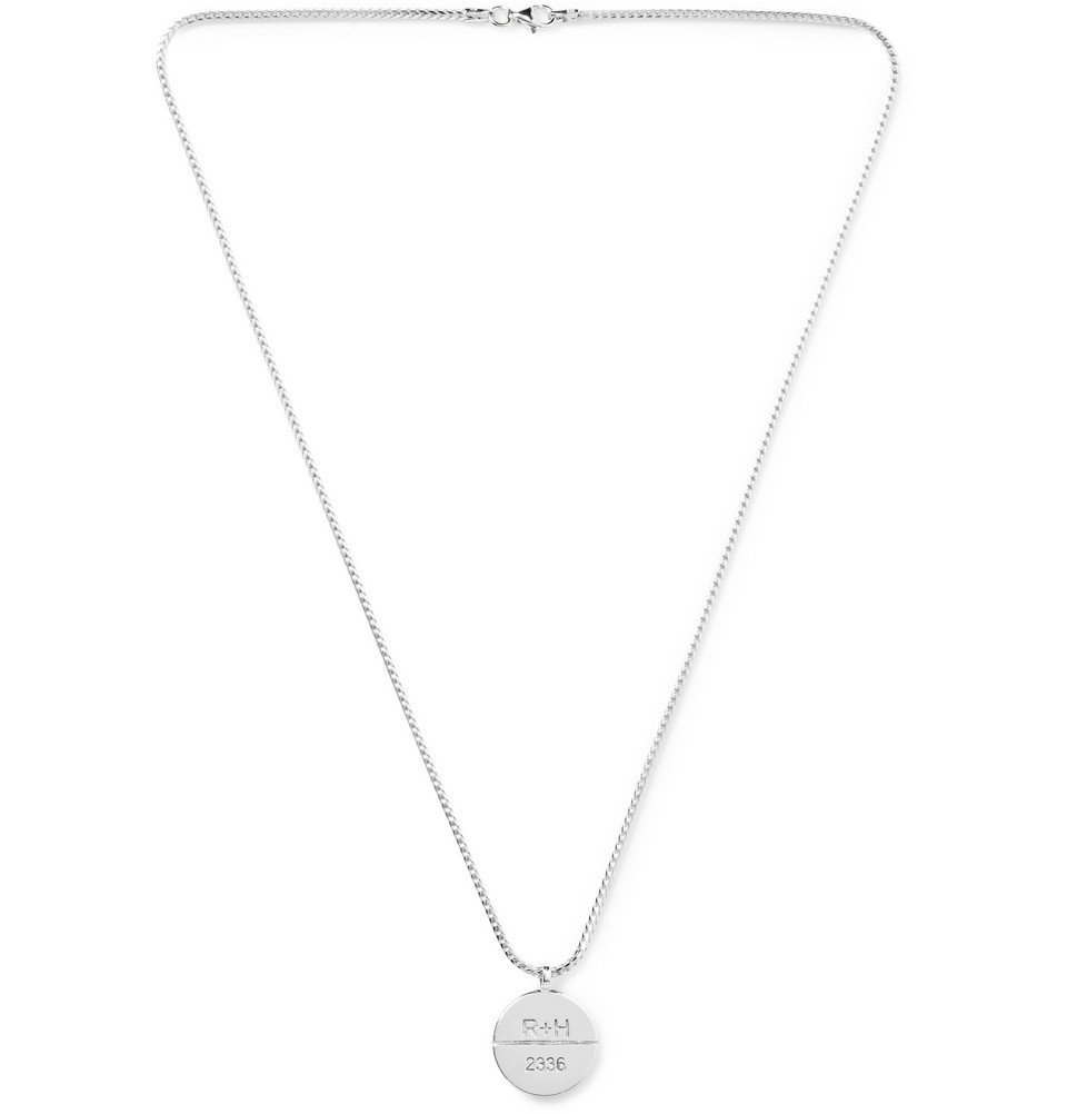Photo: Rhude - Debossed Silver Necklace - Silver