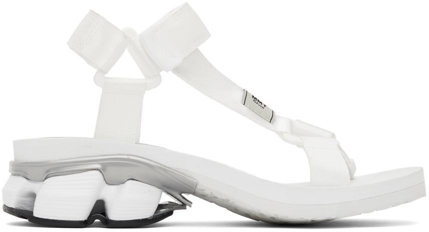 Photo: Miharayasuhiro White Sneaker Heel Belted Sandals