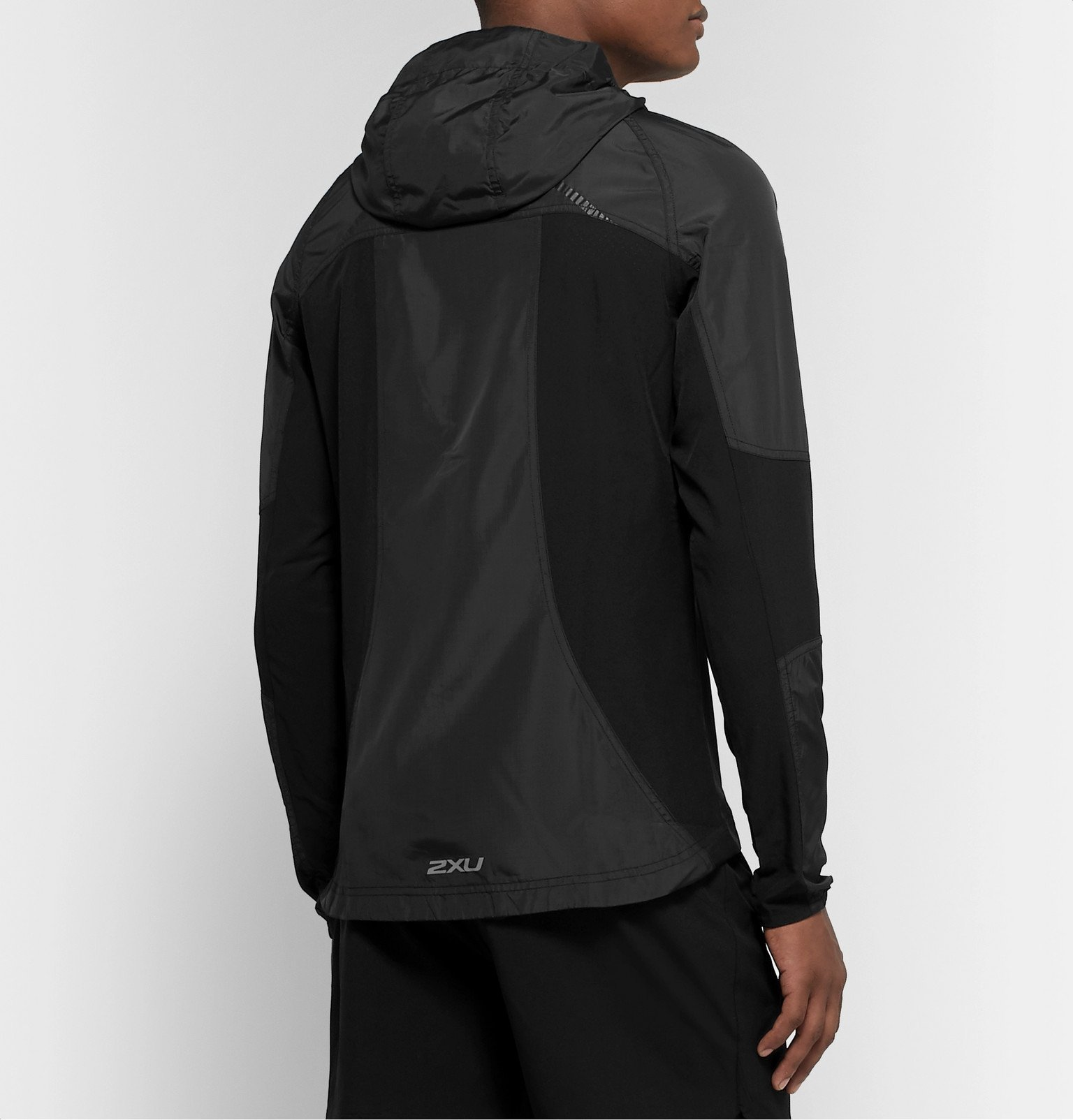 2XU - XVENT Shell and Mesh Hooded Jacket - Black