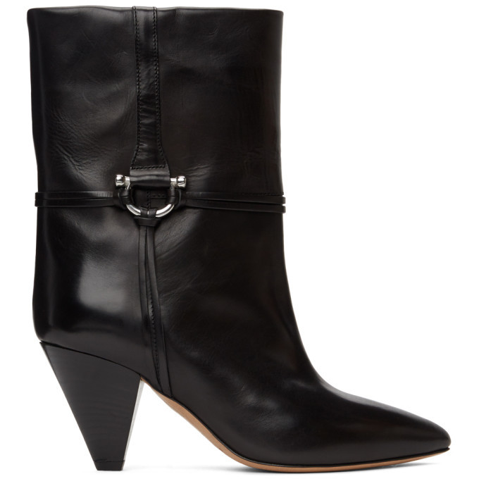 Photo: Isabel Marant Black Leather Lilet Ankle Boots
