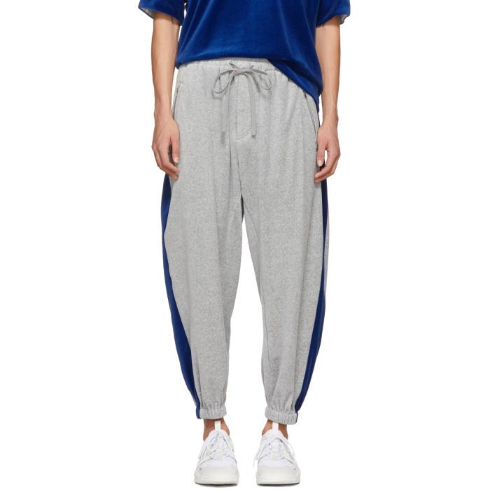 3.1 Phillip Lim Grey Baggy Velour Lounge Pants