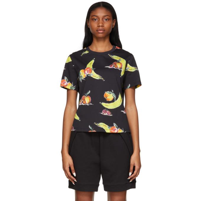 3.1 Phillip Lim Black Banana Print T-Shirt
