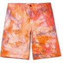 Aries - Tie-Dyed Denim Shorts - Orange