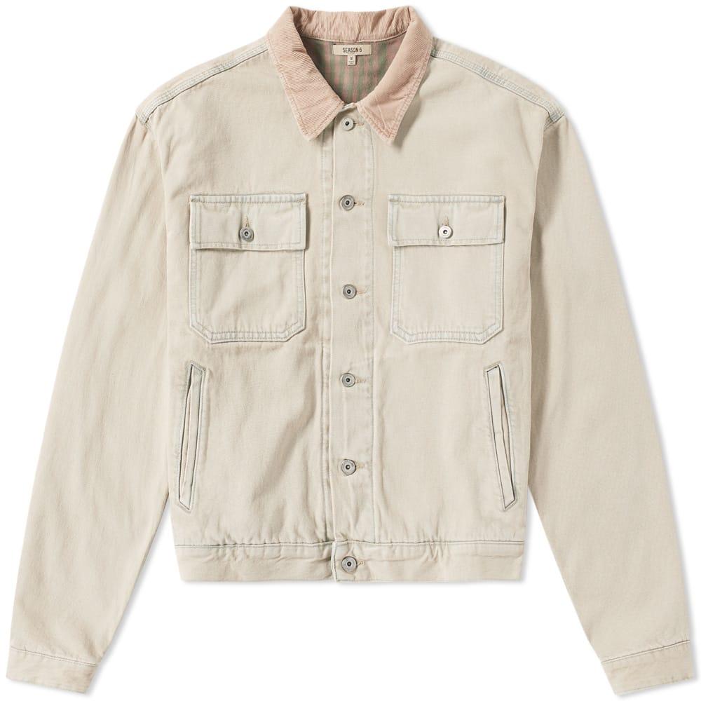 Photo: Yeezy Season 6 Flannel Lined Denim Jacket