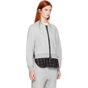 3.1 Phillip Lim Grey Double Layer Zip Sweater