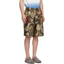 Stella McCartney Beige Silk Printed Shorts