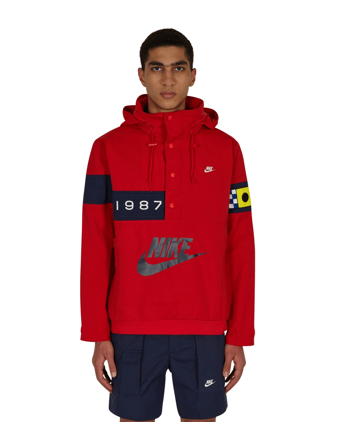 Photo: Nike Reissue Walliwaw Woven Jacket Univ Red/Midnight Navy
