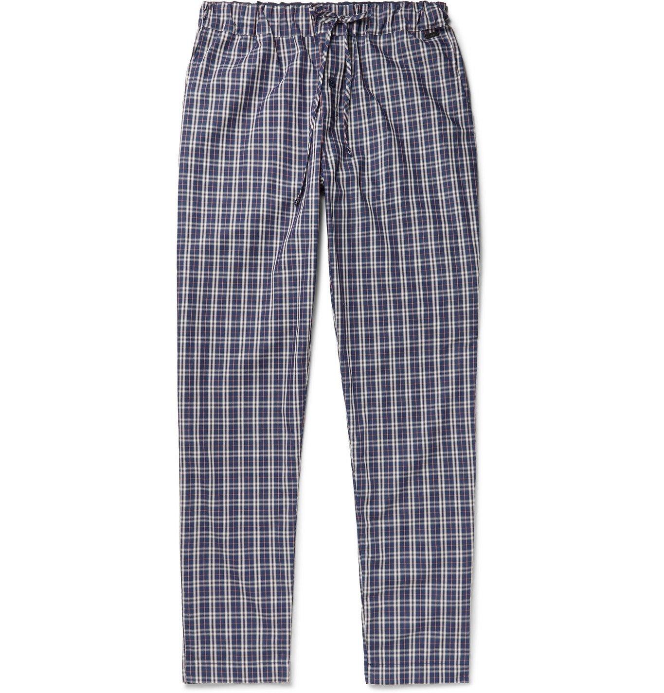Hanro - Night & Day Checked Cotton Pyjama Trousers - Multi