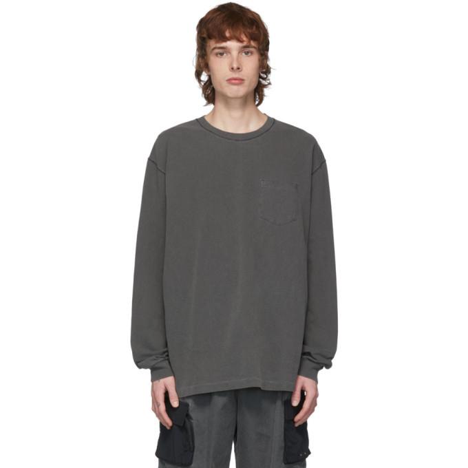 Photo: John Elliott Grey Loose Stitch Long Sleeve T-Shirt
