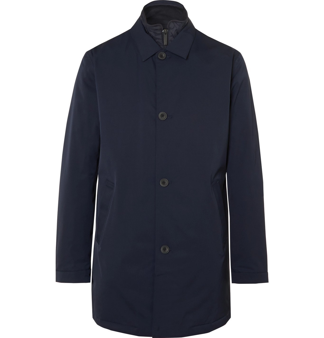 Photo: NN07 - Blake Shell Car Coat with Detachable PrimaLoft Liner - Blue
