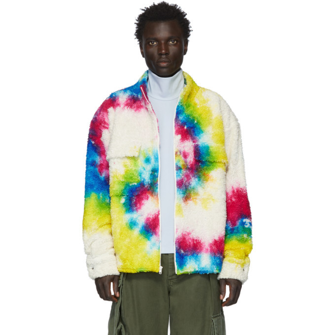 Photo: The Elder Statesman Multicolor Sherpa Rings Jacket